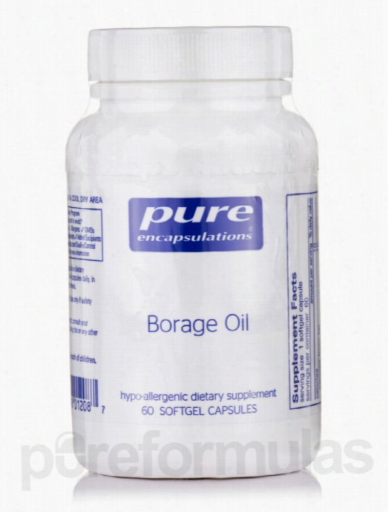 Pure Encapsulations Essential Fatty Acids - Borage Oil 1,000 mg - 60