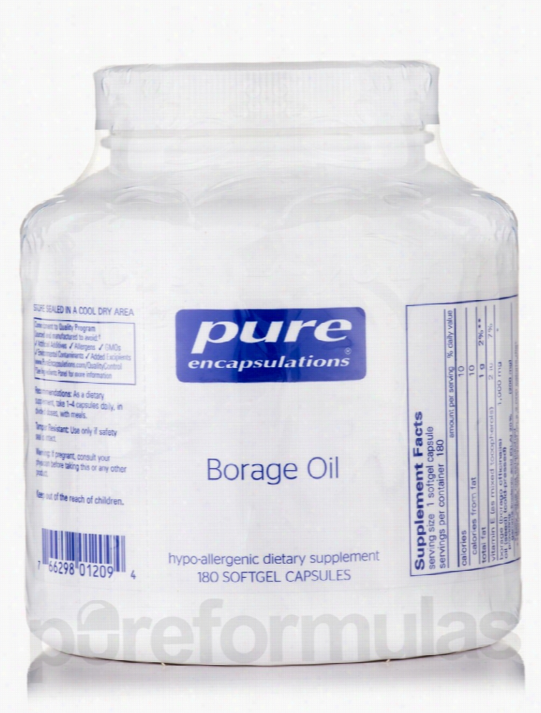 Pure Encapsulations Essential Fatty Acids - Borage Oil - 180 Softgel