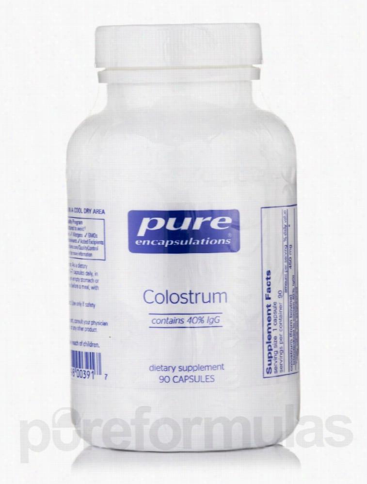Pure Encapsulations Immune Support - Colostrum 40% IgG - 90 Capsules