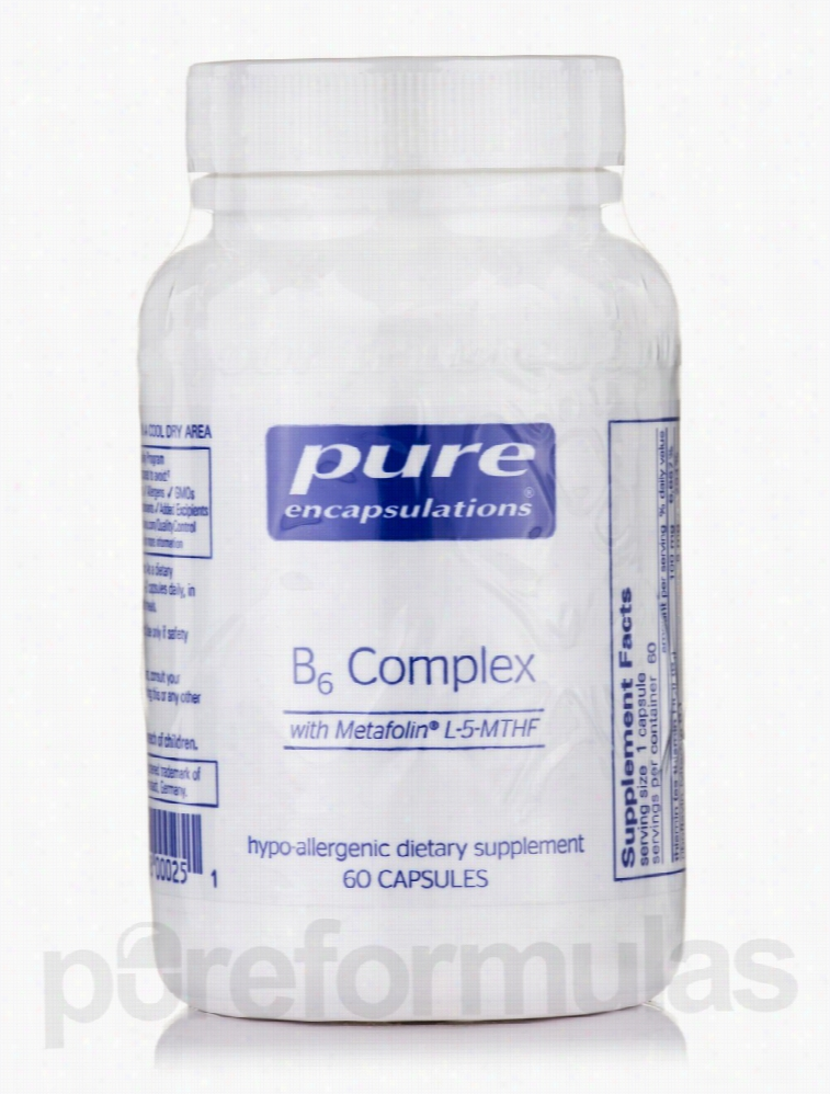 Pure Encapsulations Nervous System Support - B6 Complex - 60 Capsules