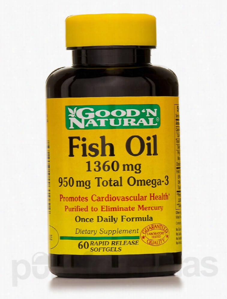Good and Natural Cardiovascular Support - Fish Oil 1360 mg 950 mg