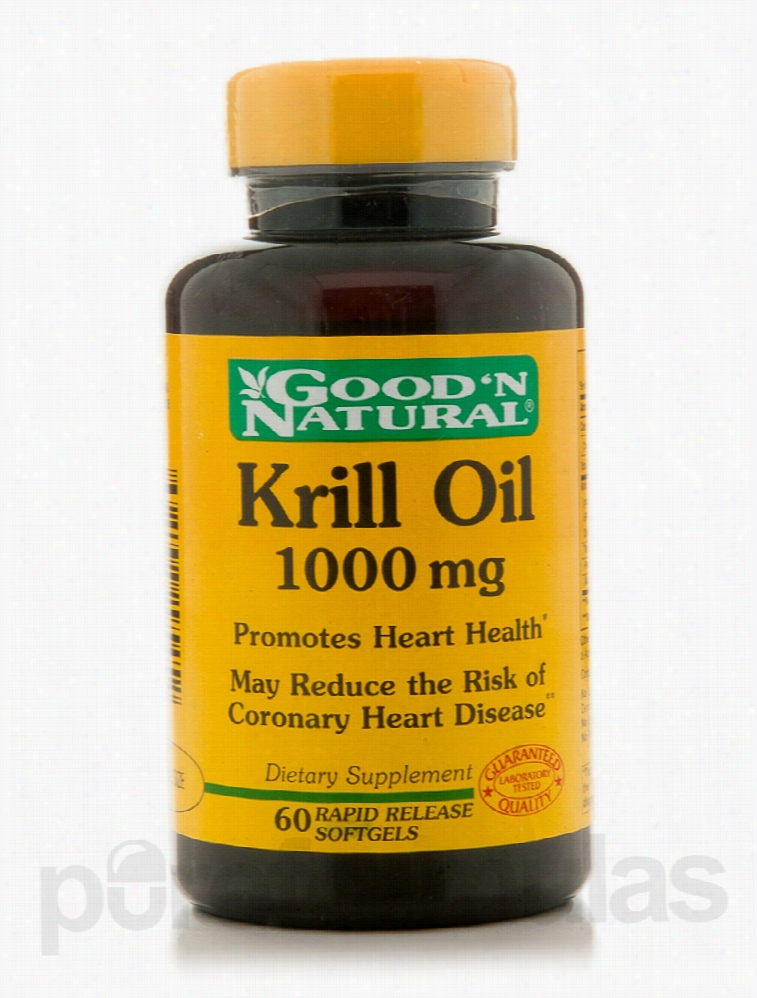 Good and Natural Cardiovascular Support - Krill Oil 1000 mg - 60