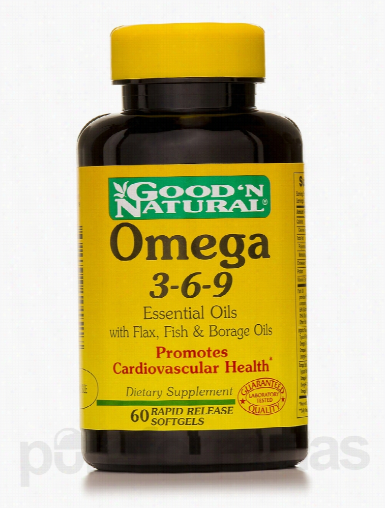 Good and Natural Cardiovascular Support - Omega 3-6-9 Essential Oils