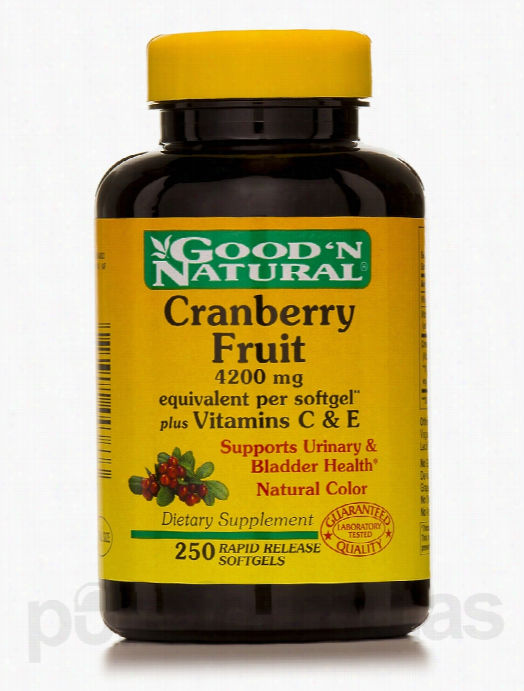 Good and Natural Immune Support - Cranberry Fruit Plus Vitamin C and E