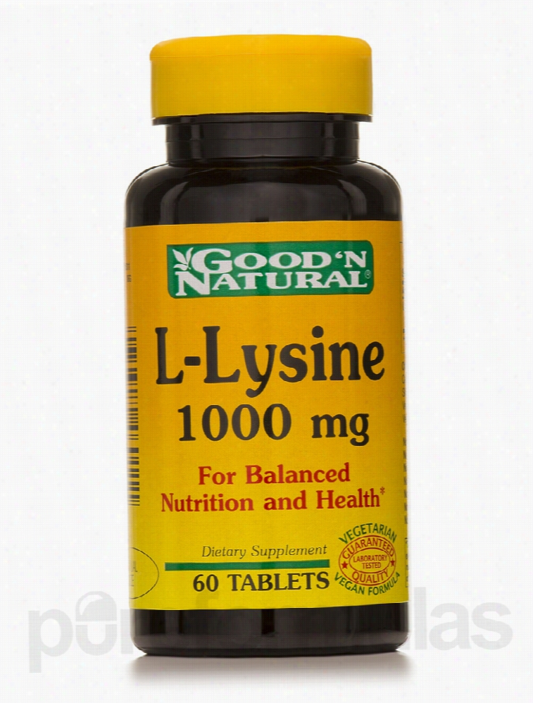Good and Natural Immune Support - L-Lysine 1000 mg - 60 Tablets