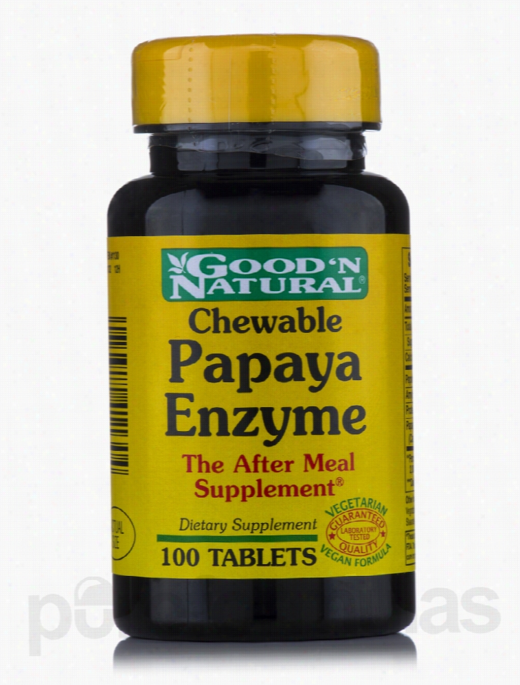 Good and Natural Metabolic Support - Chewable Papaya Enzyme - 100