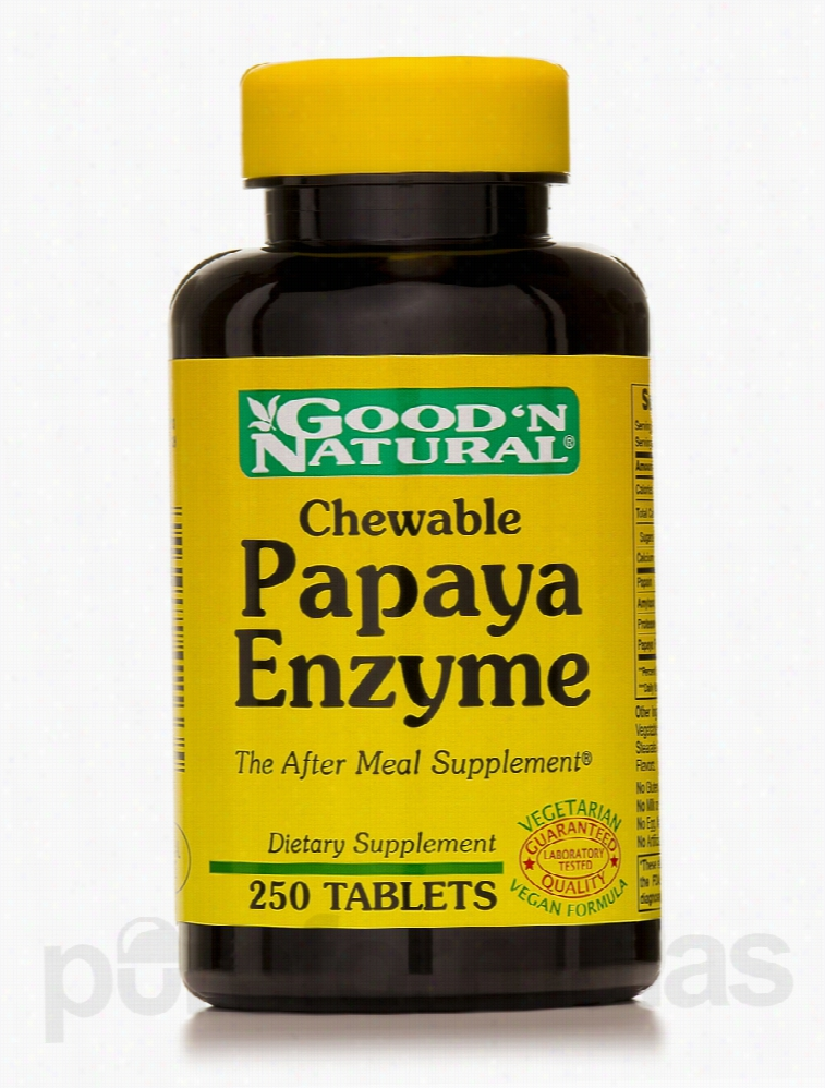 Good and Natural Metabolic Support - Chewable Papaya Enzyme - 250