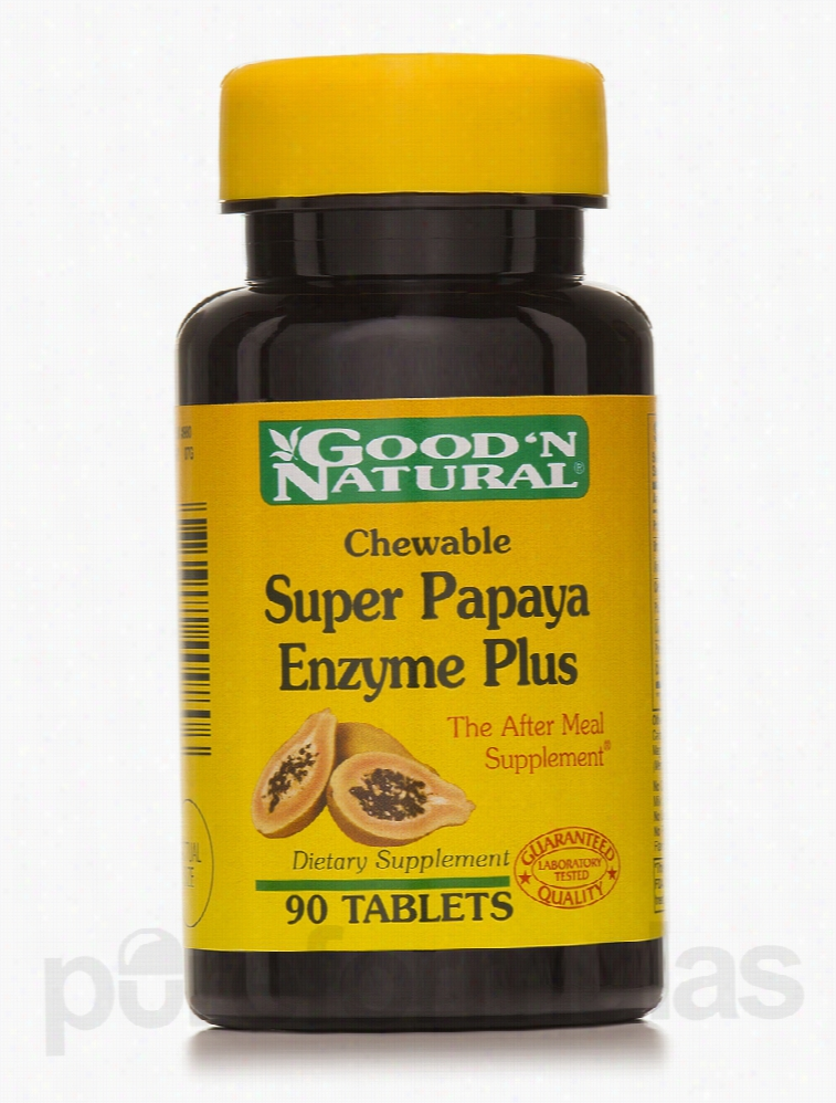 Good and Natural Metabolic Support - Chewable Super Papaya Enzyme Plus