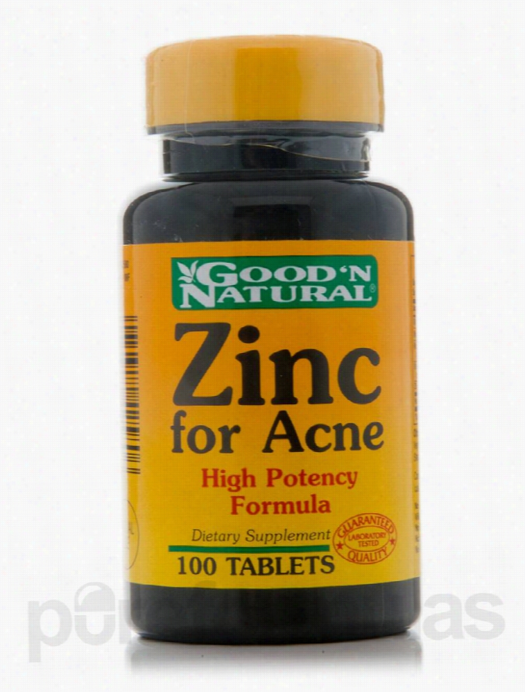 Good and Natural Minerals - Zinc for Acne - 100 Tablets