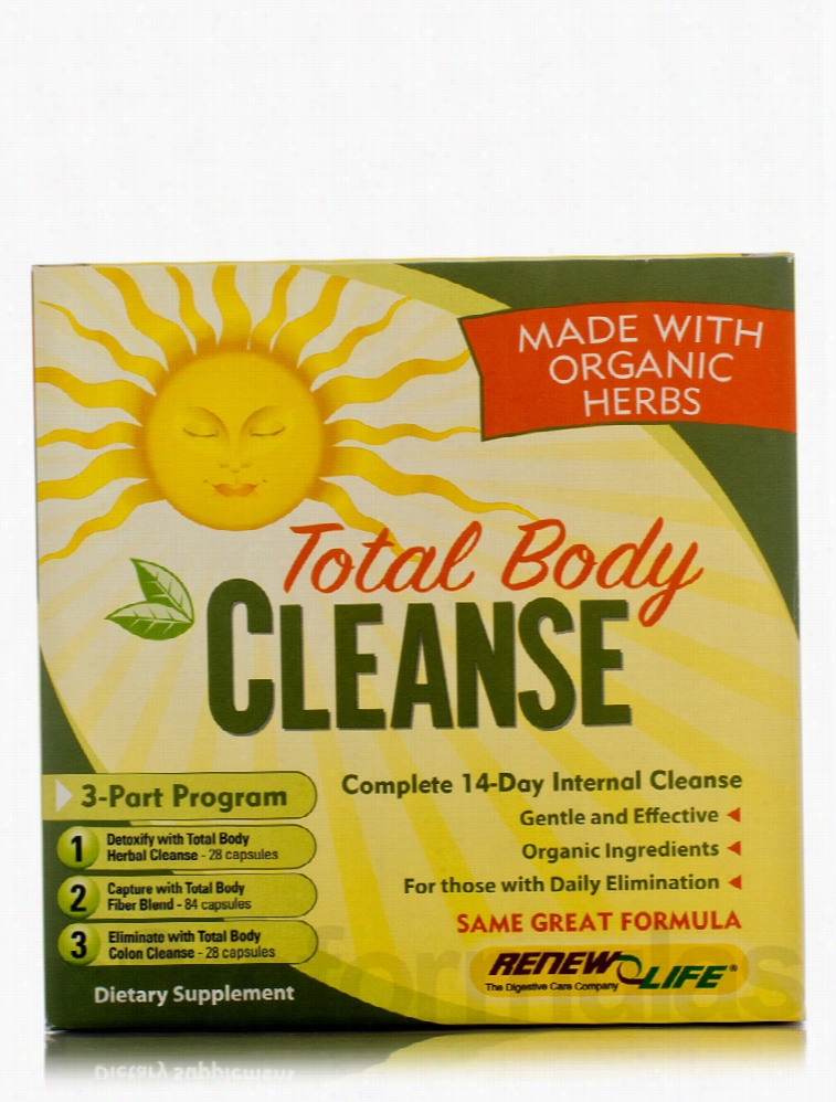 ReNew Life Detoxification - Total Body Cleanse - 3-Part Kit