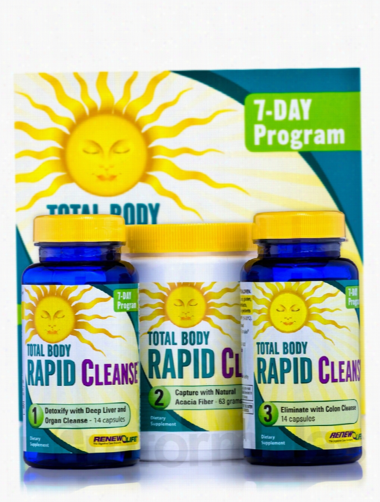 ReNew Life Detoxification - Total Body Rapid Cleanse - 7-Day (3-Part