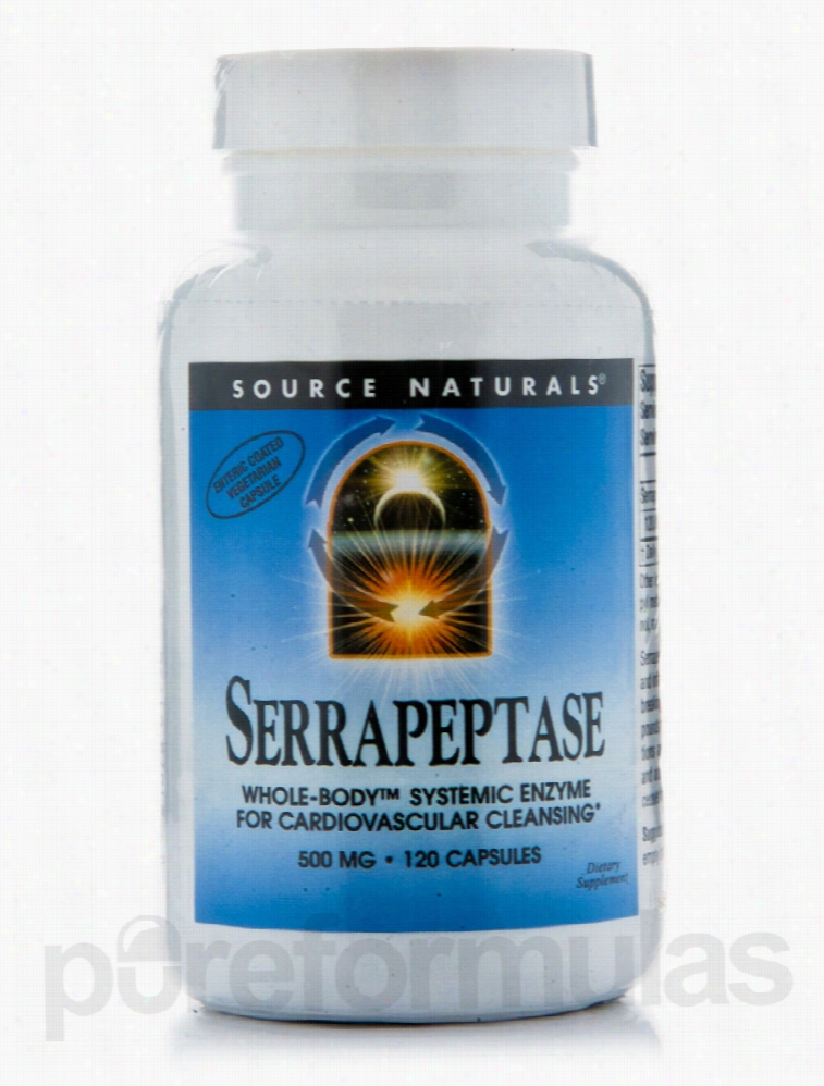 Source Naturals Cardiovascular Support - Serrapeptase 500 mg - 120