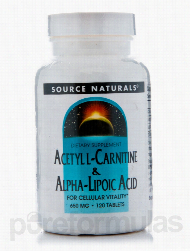 Source Naturals Cellular Support - Acetyl L-Carnitine & Alpha Lipoic