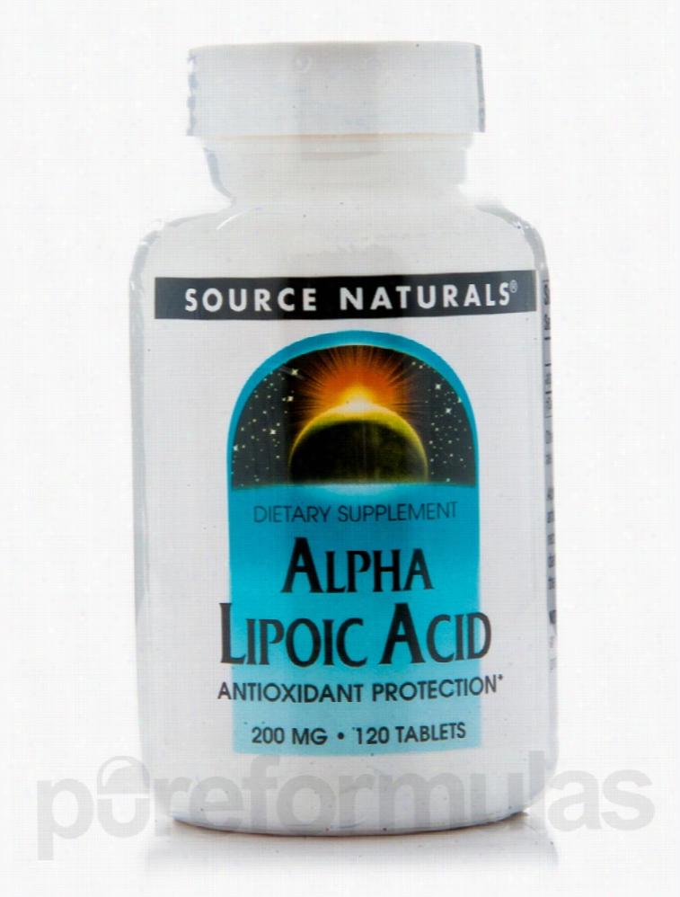 Source Naturals Cellular Support - Alpha Lipoic Acid 200 mg - 120