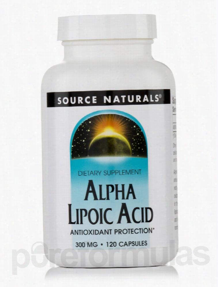 Source Naturals Cellular Support - Alpha Lipoic Acid 300 mg - 120
