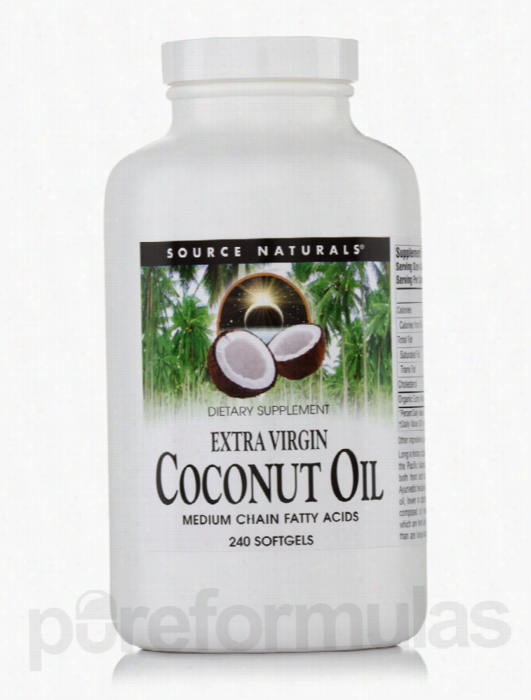 Source Naturals Essential Fatty Acids - Extra Virgin Coconut Oil - 240