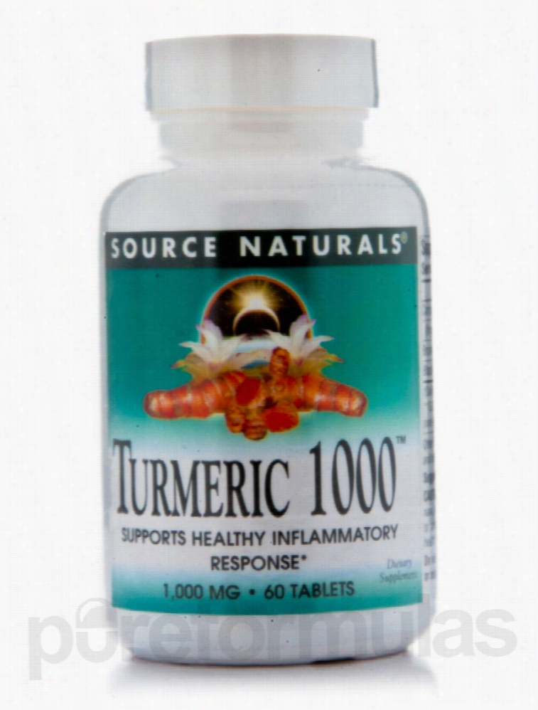 Source Naturals Metabolic Support - Turmeric 1000 - 60 Tablets