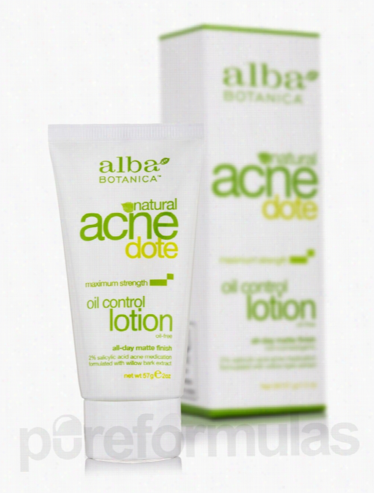 Alba Botanica Skin Care - Natural AcneDote Oil Control Lotion - 2 oz