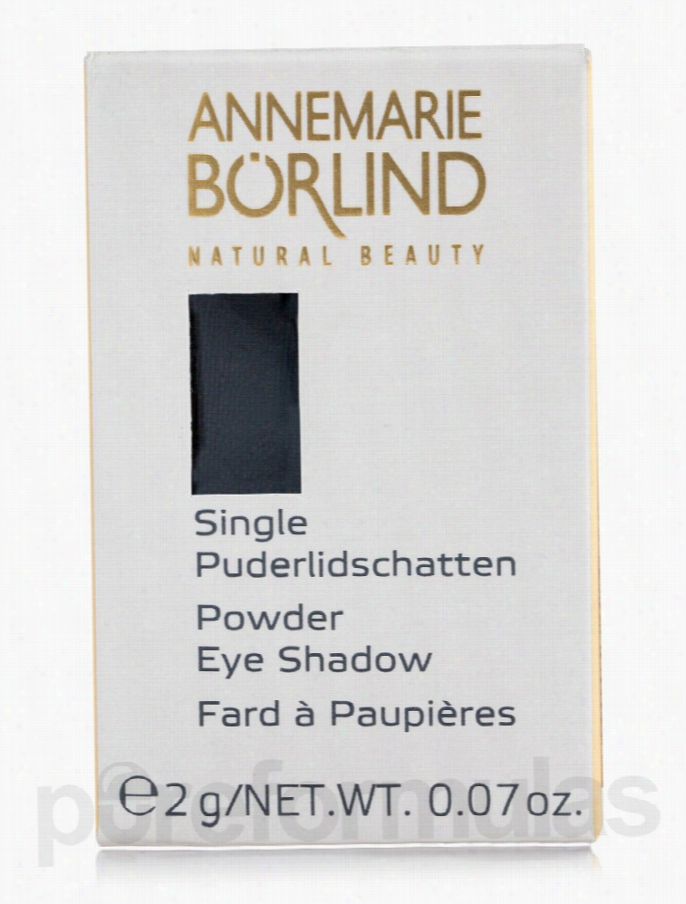 Annemarie Borlind Makeup - Powder Eye Shadow Single - Black - 0.07 oz