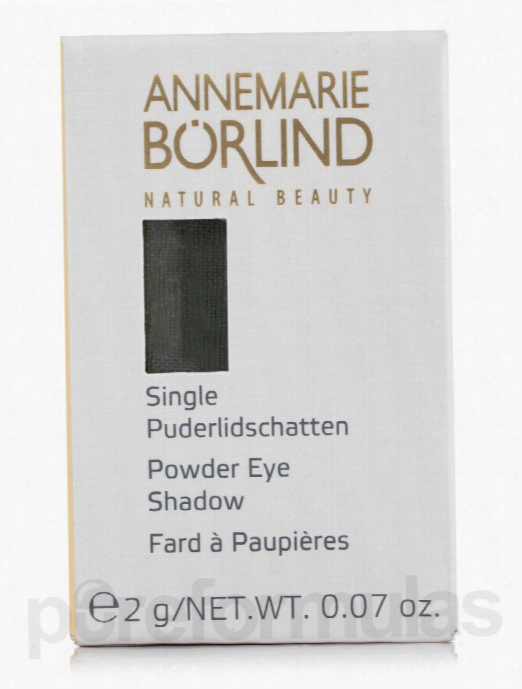 Annemarie Borlind Makeup - Powder Eye Shadow Single - Green Moss -