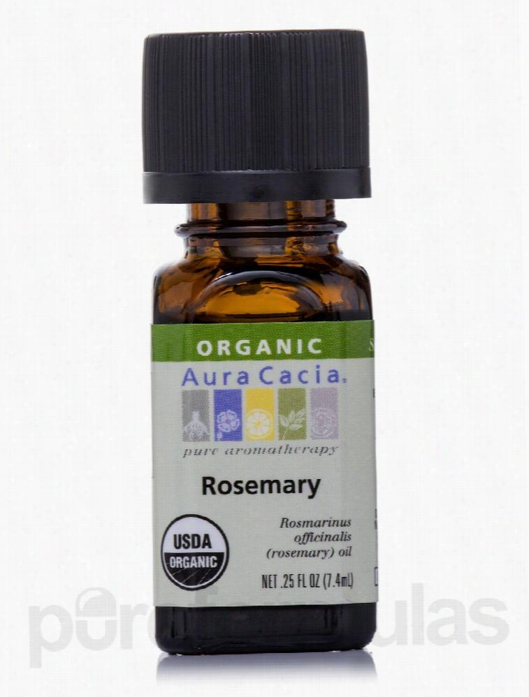 Aura Cacia Aromatherapy - Organic Rosemary Essential Oil - 0.25 fl. oz