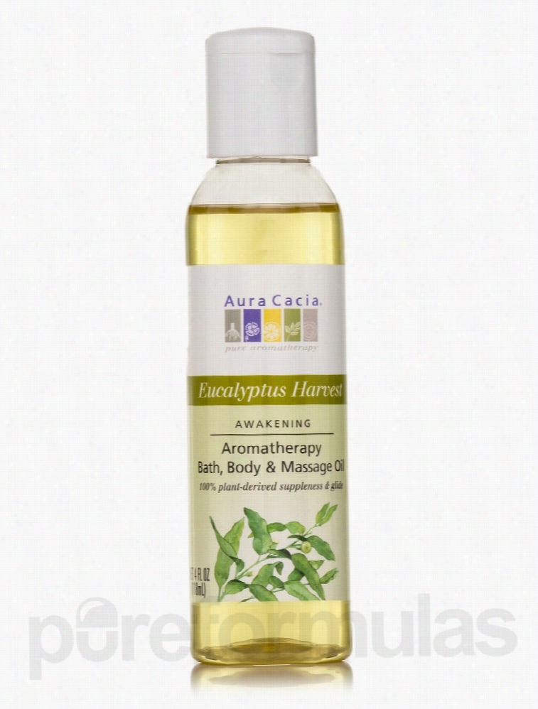 Aura Cacia Skin Care - Clearing Eucalyptus Aromatherapy Body Oil - 4