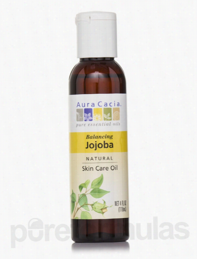 Aura Cacia Skin Care - Jojoba Natural Skin Care Oil - 4 fl. oz (118