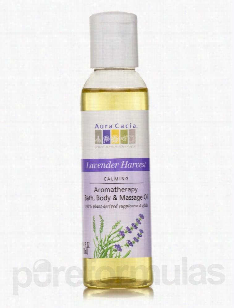 Aura Cacia Skin Care - Lavender Harvest Aromatherapy Body Oil - 4 fl.
