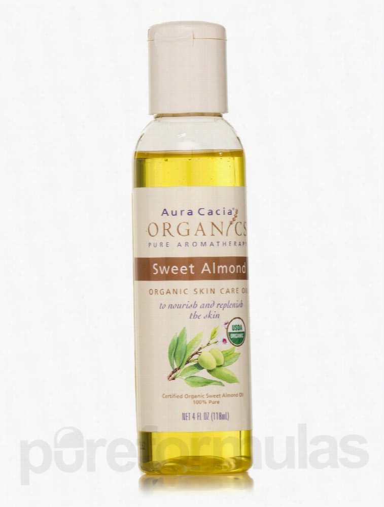 Aura Cacia Skin Care - Organic Sweet Almond Skin Care Oil - 4 fl. oz