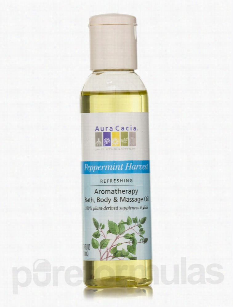 Aura Cacia Skin Care - Peppermint Harvest Aromatherapy Body Oil - 4