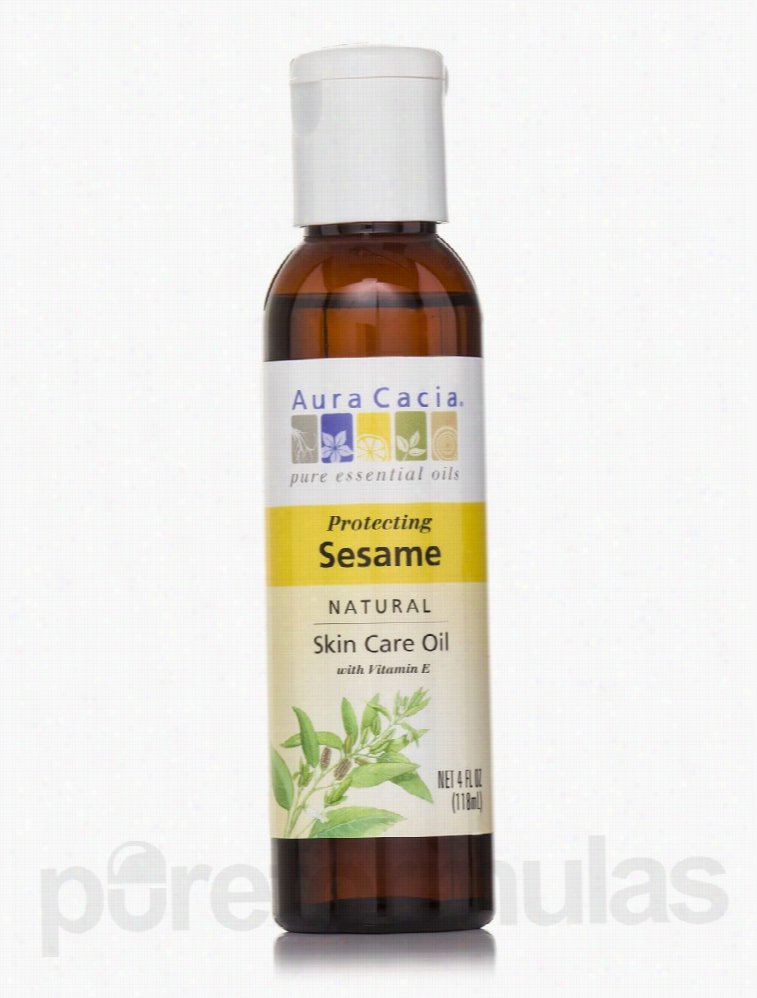 Aura Cacia Skin Care - Sesame Skin Care Oil - 4 fl. oz (118 ml)