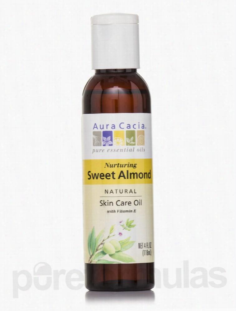 Aura Cacia Skin Care - Sweet Almond Pure Skin Care Oil - 4 fl. oz (118
