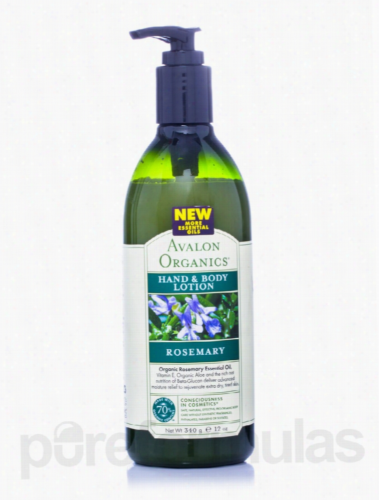 Avalon Organics Bath and Body - Organic Rosemary Hand and Body Lotion