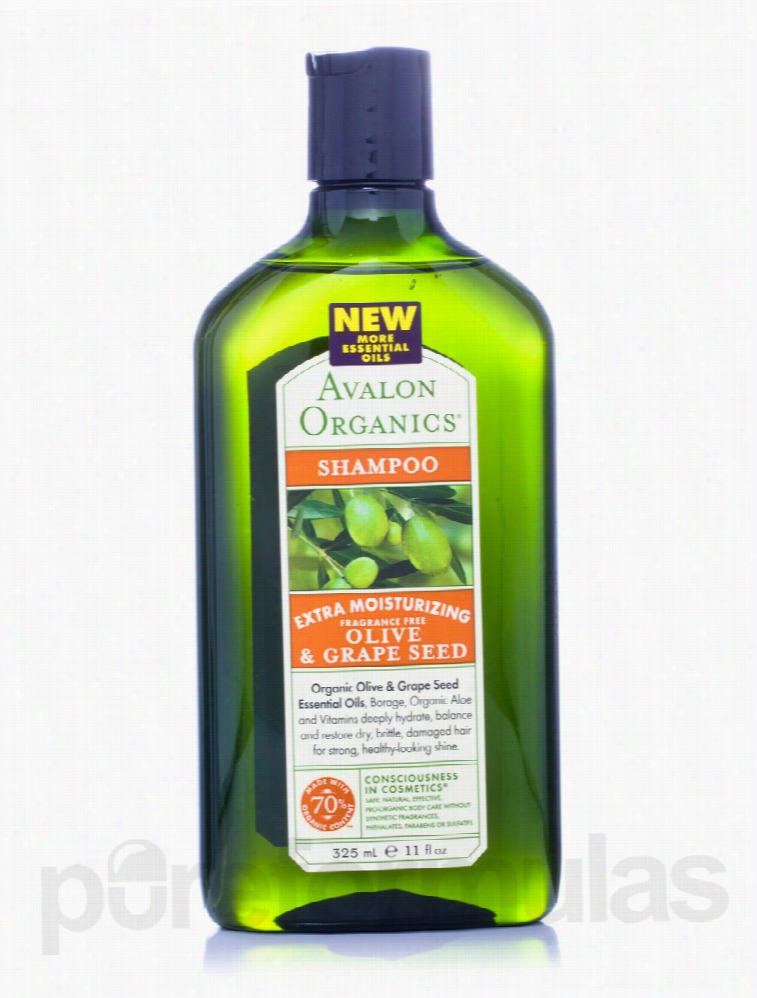 Avalon Organics Hair - Olive & Grape Seed Extra Moisturizing Fragrance