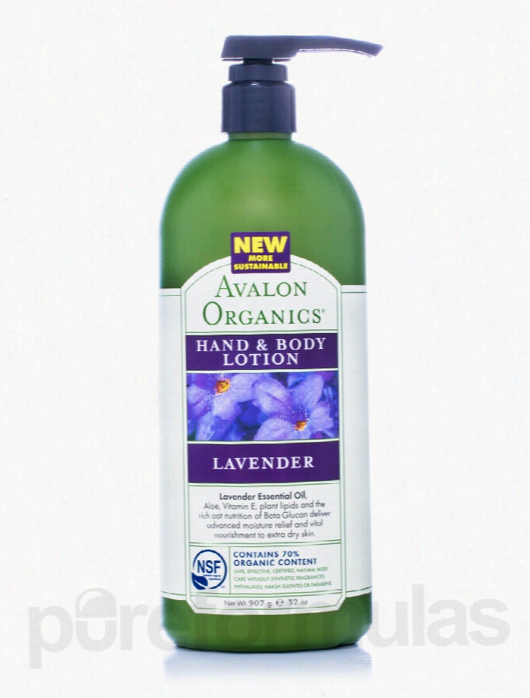 Avalon Organics Skin Care - Organic Lavender Hand & Body Lotion - 32