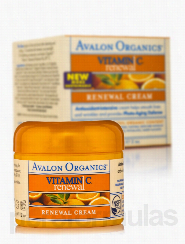 Avalon Organics Skin Care - Vitamin C Renewal Facial Creme - 2 oz (57