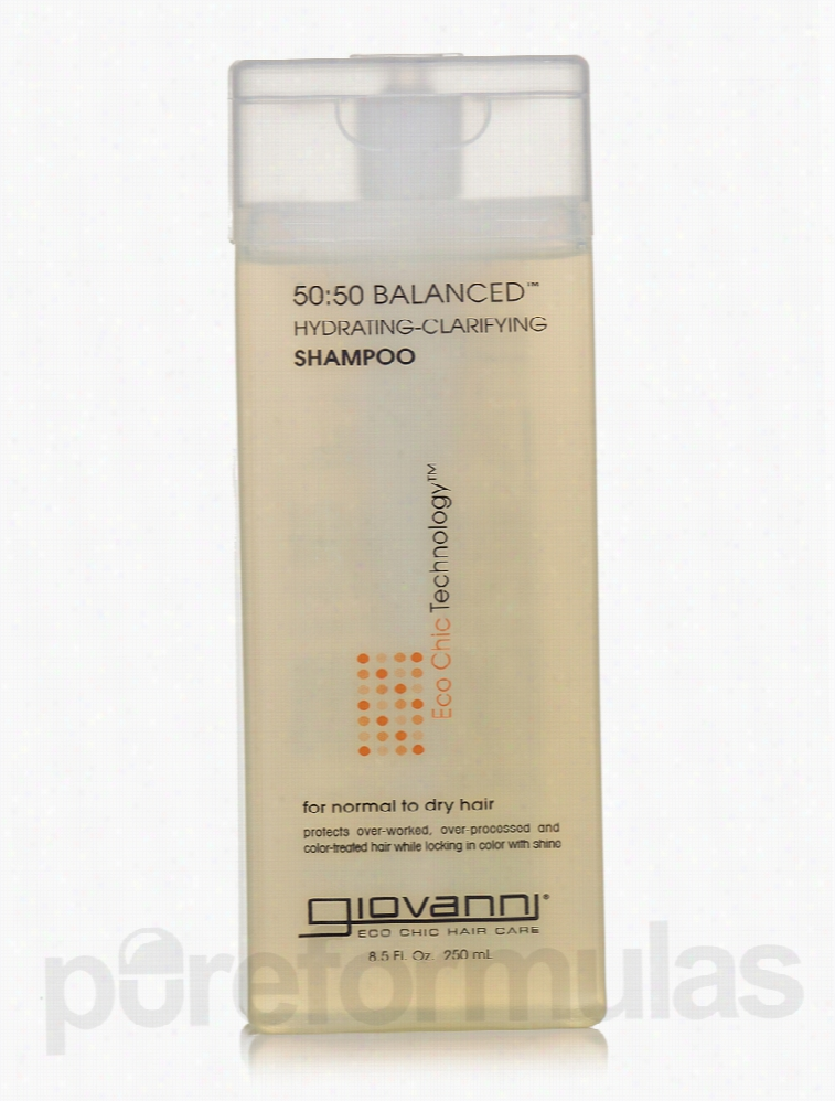 Giovanni Cosmetics Hair - 50:50 Balanced Shampoo - 8.5 fl. oz (250 ml)