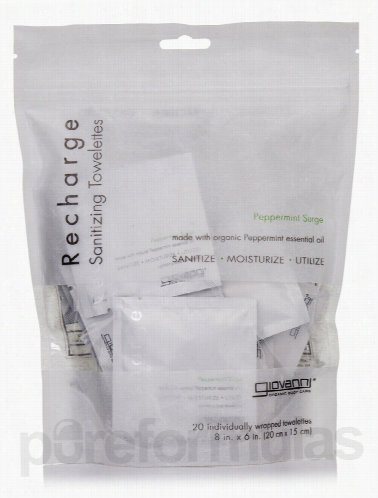 Giovanni Cosmetics Skin Care - Recharge Sanitizing Towelettes