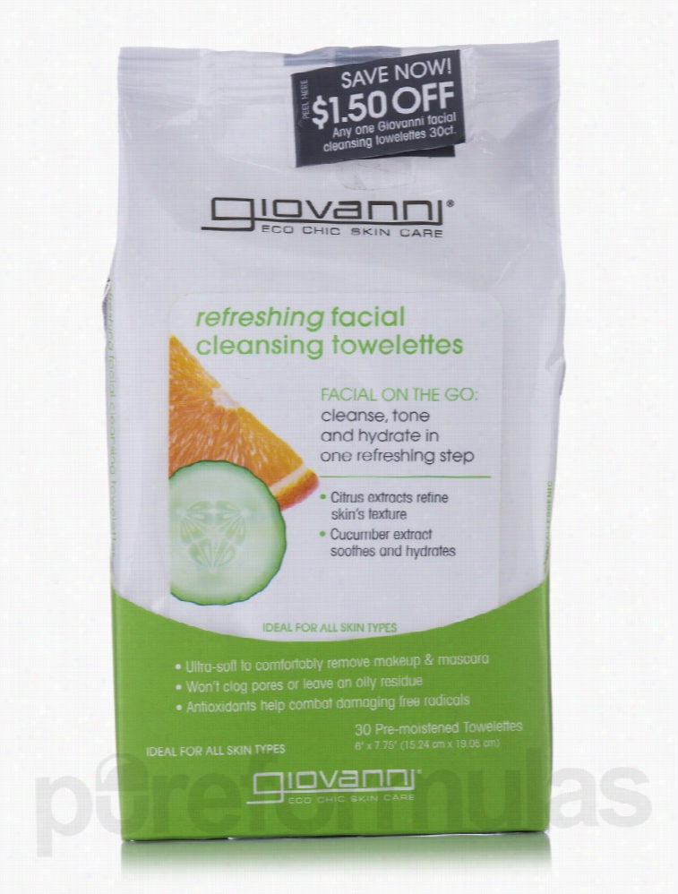 Giovanni Cosmetics Skin Care - Refreshing Facial Cleansing Towelettes