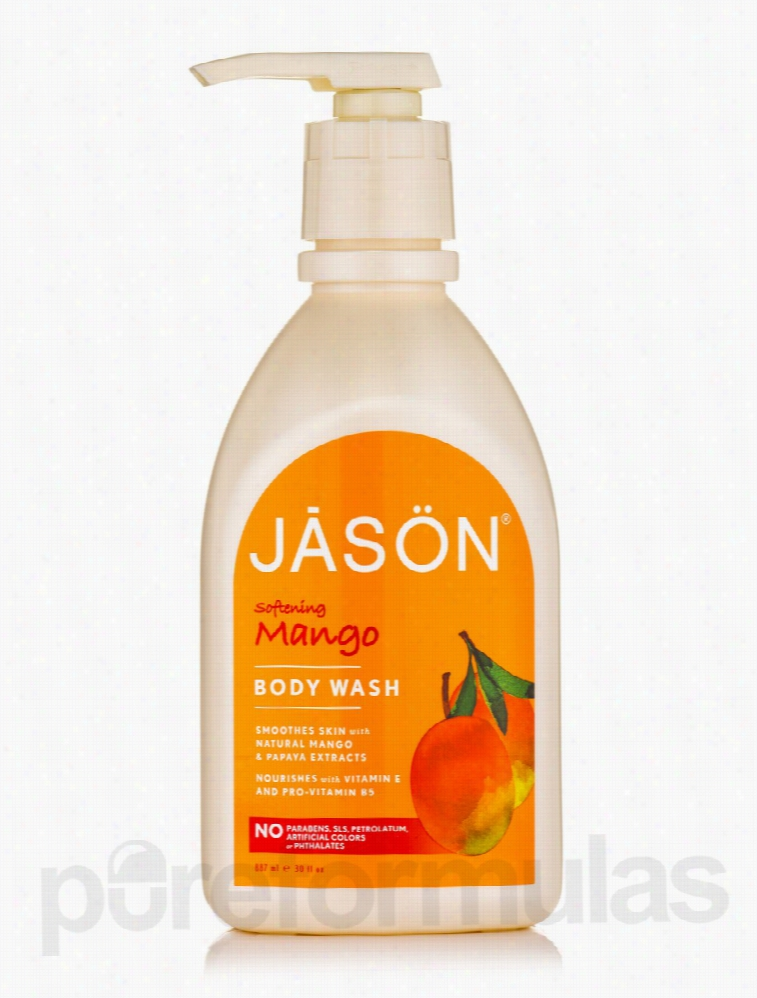 Jason Natural Products Bath and Body - Softening Mango Body Wash - 30