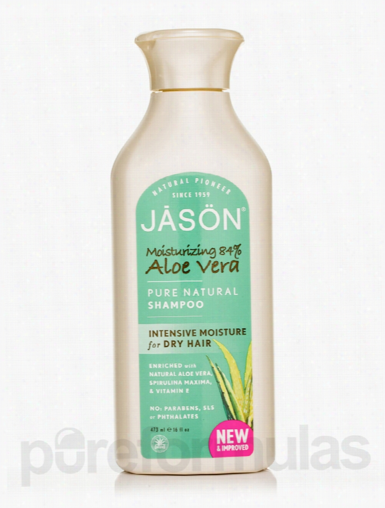 Jason Natural Products Hair - Moisturizing 84% Aloe Vera Shampoo - 16