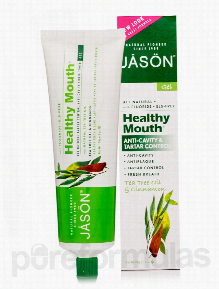 Jason Natural Products Oral Health - Healthy Mouth Anti-Cavity &