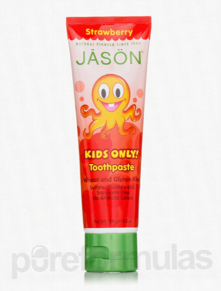 Jason Natural Products Oral Health - Kid's Strawberry Toothpaste - 4.2