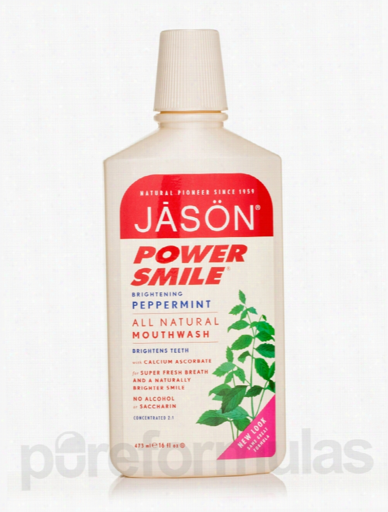 Jason Natural Products Oral Health - PowerSmile Brightening Mouthwash