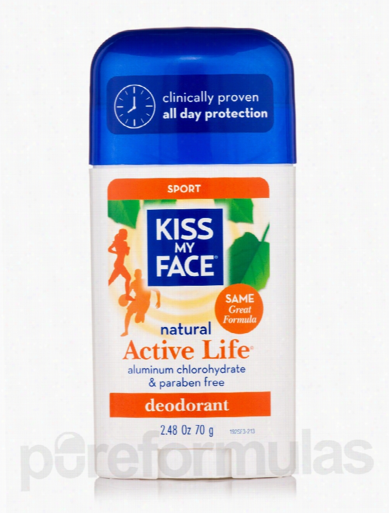 Kiss My Face Bath and Body - Active Life Sport Deodorant Stick - 2.48