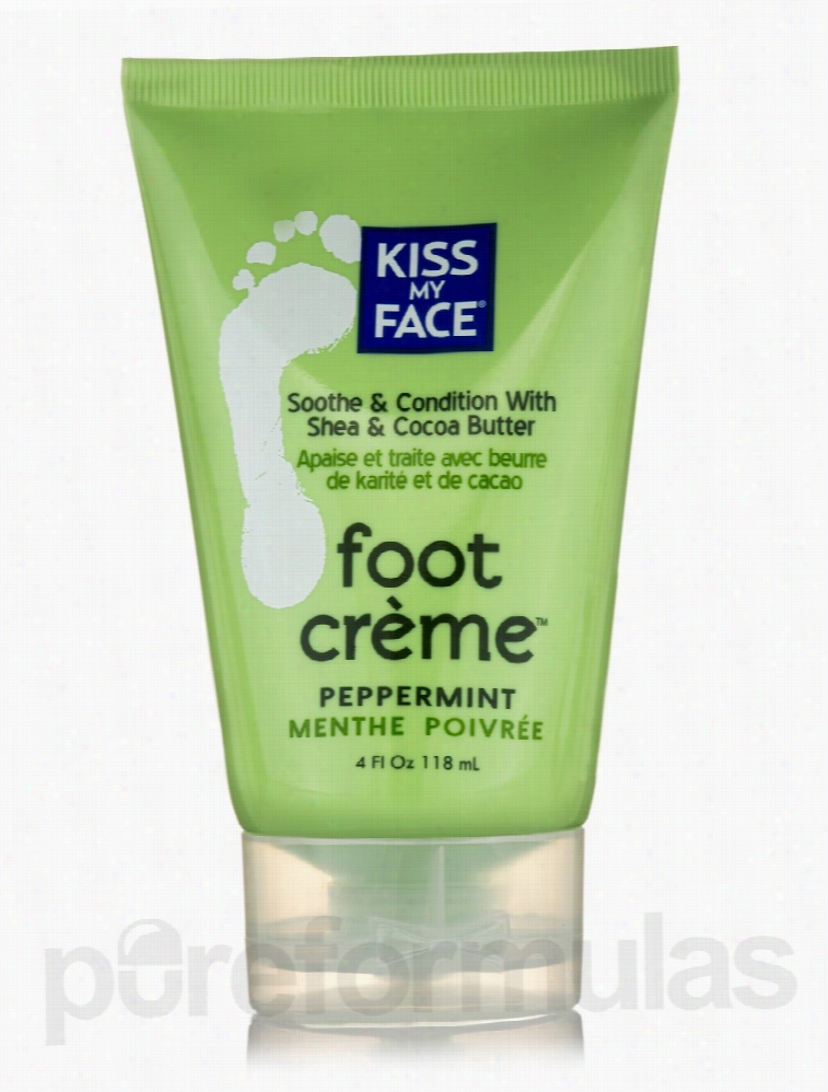 Kiss My Face Bath and Body - Peppermint Foot Creme - 4 fl. oz (118 ml)