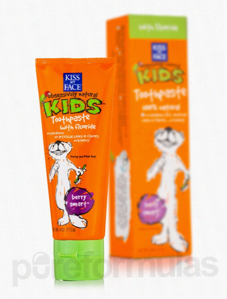 Kiss My Face Oral Health - Berry Smart Toothpaste with Fluoride - 4 oz