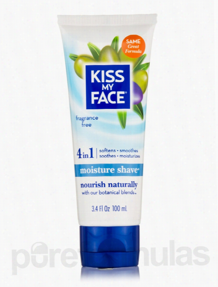 Kiss My Face Skin Care - Fragrance Free Moisture Shave - 3.4 fl. oz