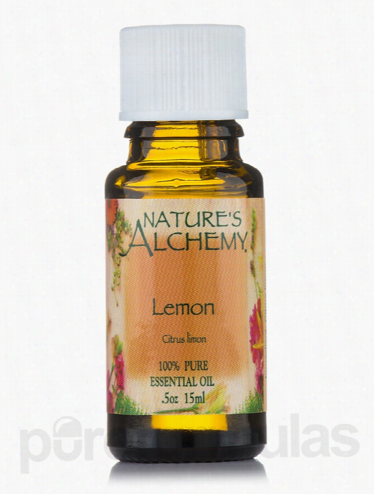 Nature's Alchemy Aromatherapy - Lemon Pure Essential Oil - 0.5 oz (15