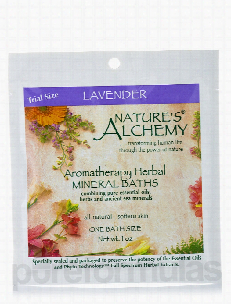 Nature's Alchemy Bath and Body - Lavender Aromatherapy Mineral Baths -